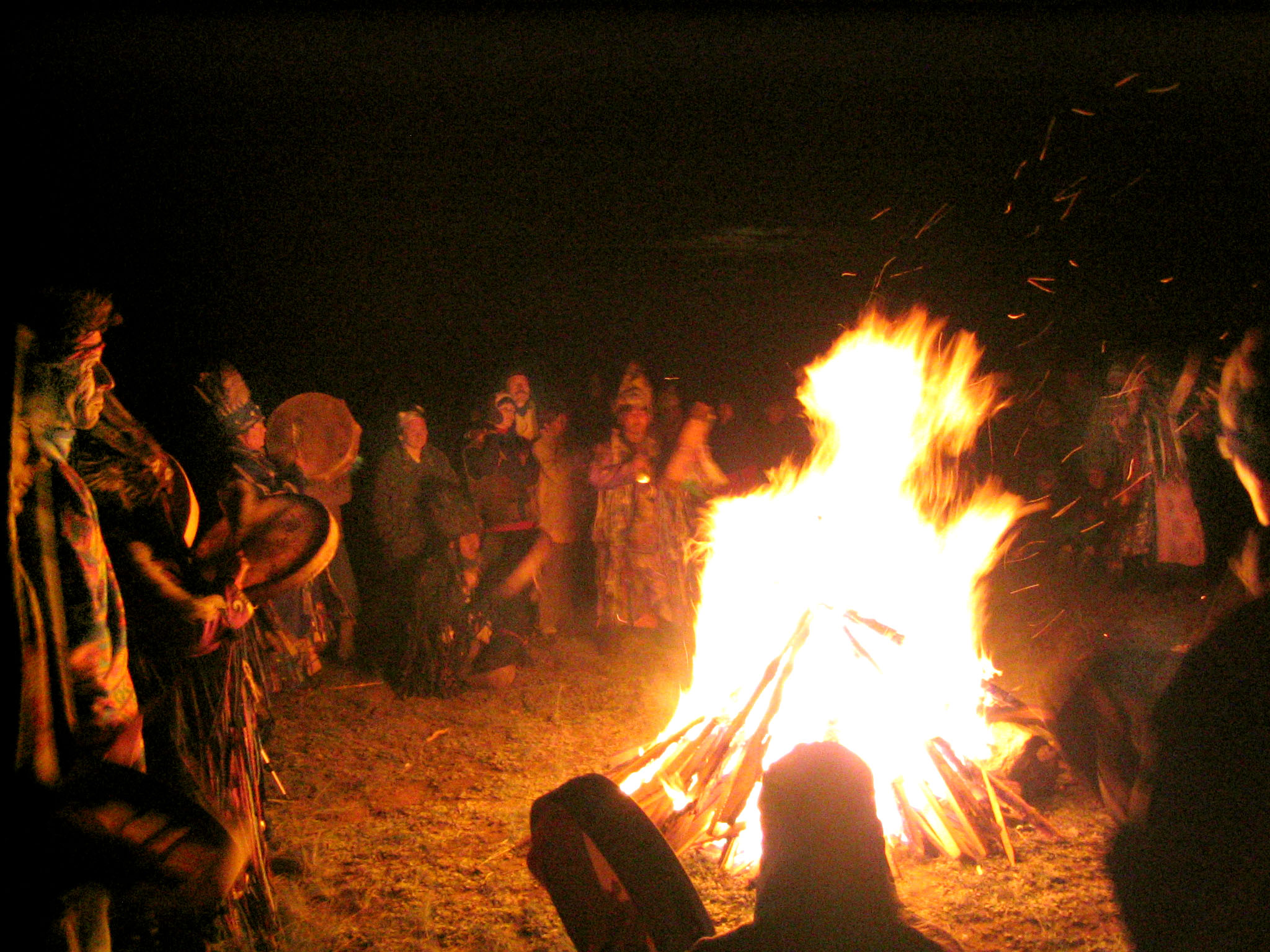 Sacred Fire Hirucan Mountain Tuva  copyright 2003  photo by Kent Dorsey